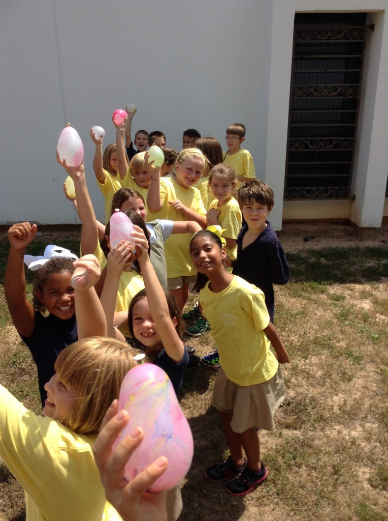Have you ever been the target of 21 water balloons aimed at you by 21 kids?