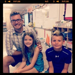 Ansley and Asher attended Meet the Teacher, 2014.